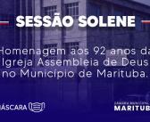 Câmara homenageia Assembleia de Deus em Marituba